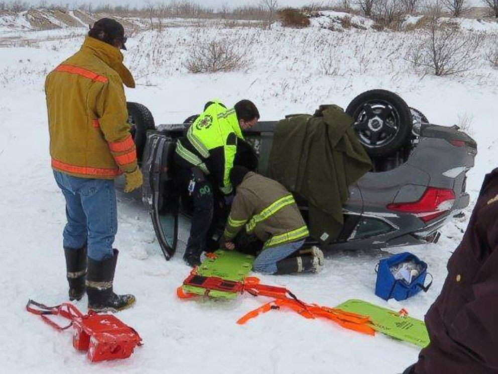 PHOTO: The Minnesota State Patrol posted photos from a Feb. 14 rollover crash in Pennington County on Facebook.