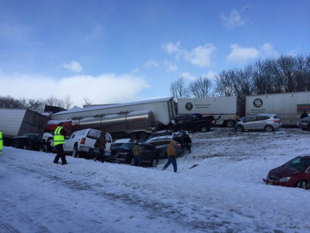 About 50 Cars Involved in Deadly Pile-Up on Snow-Covered ...