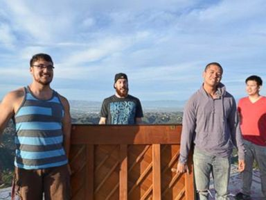 PHOTO: Group claiming to be behind mystery piano poses in Santa Monica Mountains.