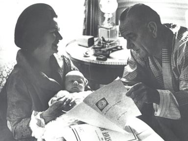 President Lyndon Johnson reads the presidents daily brief.
