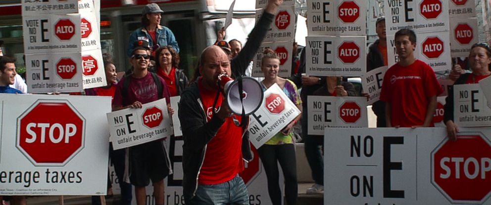 """PHOTO: The Coalition for an Affordable City, also called """"No on E,"""" is a group dedicated to striking down Proposition E, often referred to as the soda tax, which San Francisco voters will vote on Tuesday."""