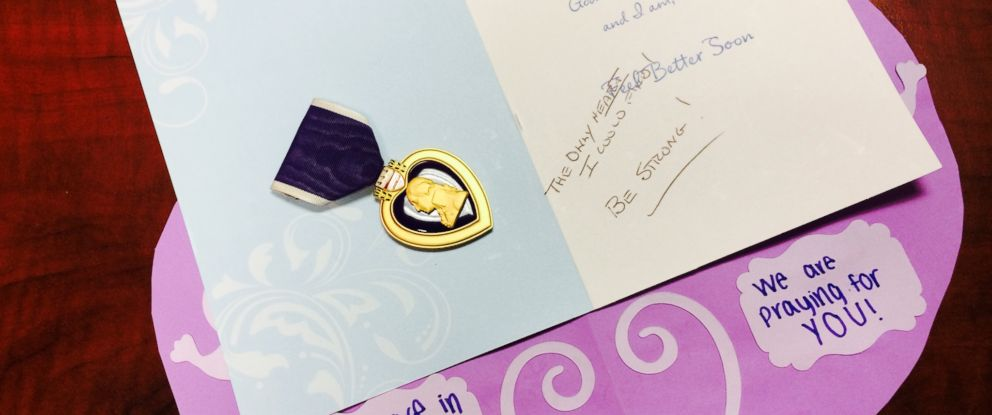 PHOTO: The victim of a Wisconsin stabbing has received a Purple Heart medal, the type given to wounded military personnel or the family of a loved one who died, from an anonymous donor.