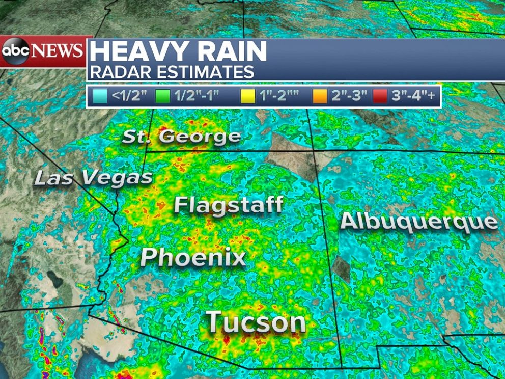 PHOTO: Over the last 6 days parts of the Southwest have already received over 4 of rain.
