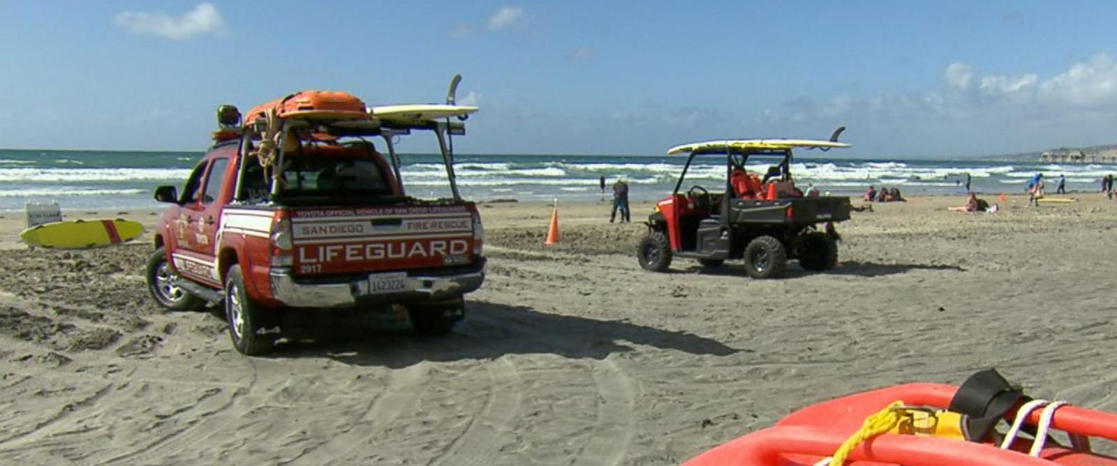 PHOTO: At least 20 students from Rancho Verde High School in Moreno Valley were rescued March 29, 2016 from the waters off the coast of La Jolla, according to the San Diego Fire-Rescue Department.