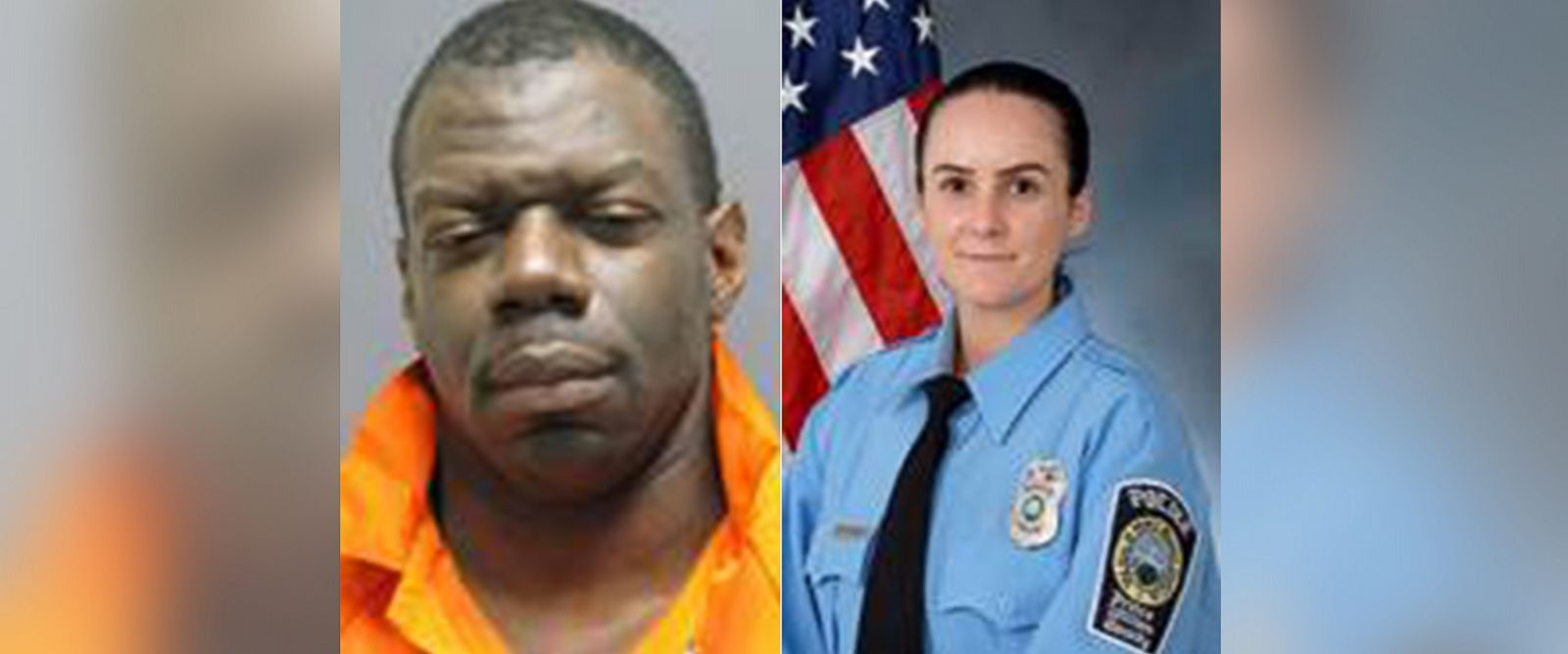 PHOTO: (L-R) Ronald Hamilton, an army staff sergeant stationed at the Pentagon, is accused of killing Officer Ashley Guindon on Feb. 27, 2016.