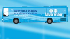 PHOTO: Lava Mae, a sort of showers on wheels, is a new project that aims to turn decommissioned city buses into shower stations for the homeless.