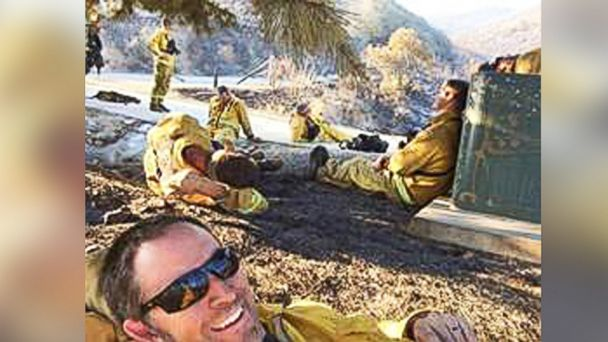 HT san marcos firedept cut mar 140519 16x9 608 Firefighters Selfie Taken During SoCal Fires Goes Viral