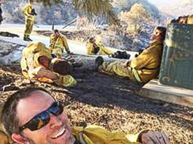 Firefighter's 'Selfie' Taken During SoCal Fires Goes Viral