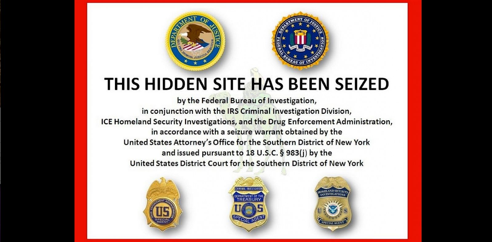Bitcoins seized by fbi