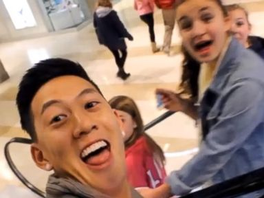 PHOTO: A scene from the YouTube video, Selfies with Strangers posted by user JasonSoSilly.