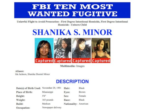 Woman on FBI's 'Top 10' List Captured in NC