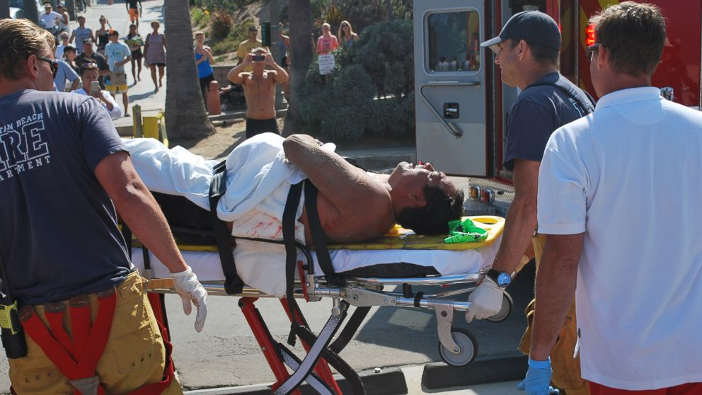 PHOTO: A man was attacked by a shark just south of Manhattan Beach Pier in Los Angel
