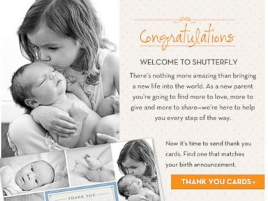 Oops! Shutterfly Congratulates People on Non-Existing Babies