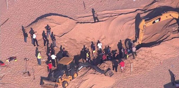 HT sinkhole chicago dm 130712 33x16 608 Boy Pulled From Sand Dune Hole on Indiana Beach