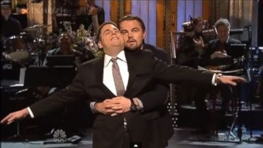 PHOTO: Saturday Night Live: Leonardo DiCaprio crashes Jonah Hills monologue to recreate Titanic