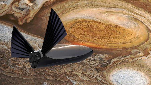 """PHOTO: SpaceX CEO Elon Musk unveiled an """"interplanetary transport system"""" to carry humans to Mars."""