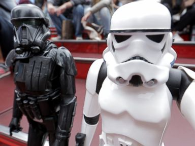 PHOTO: Death Trooper and Stormtrooper take a selfie in Times Square, NYC.