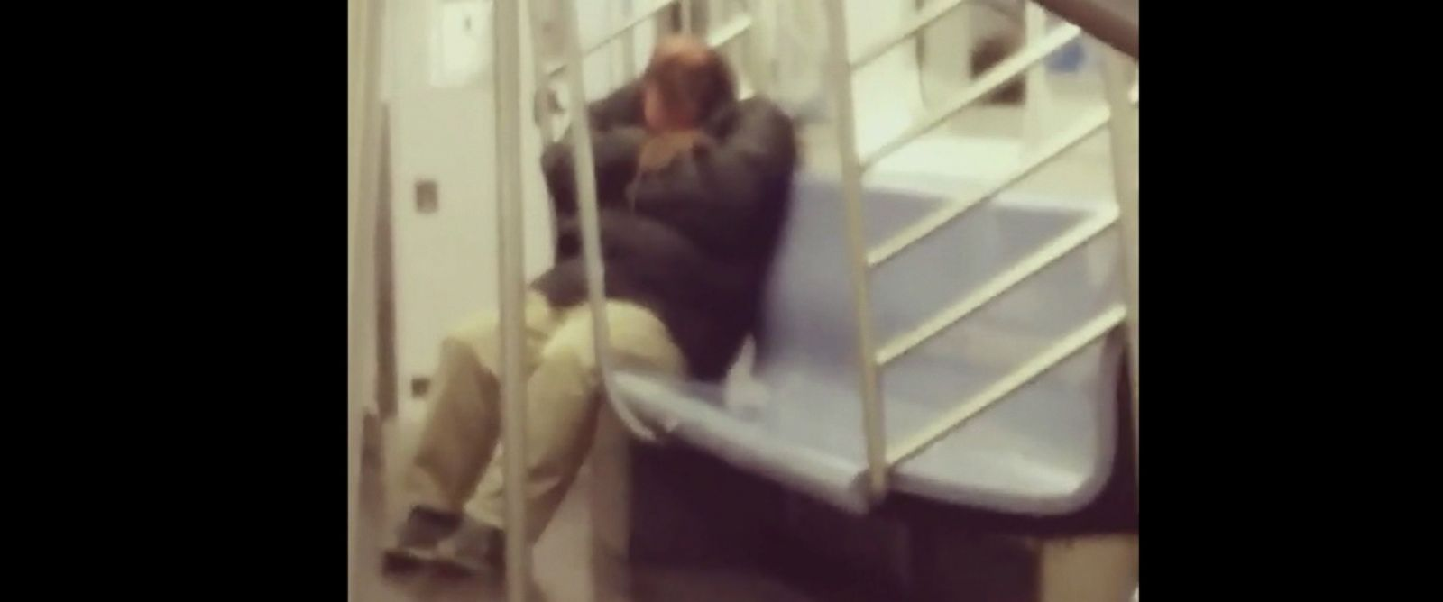 PHOTO: A rat crawled onto a man sleeping on the 7 train in New York City. Antony Lin captured the incident on video at 3 a.m., March 27, 2016.
