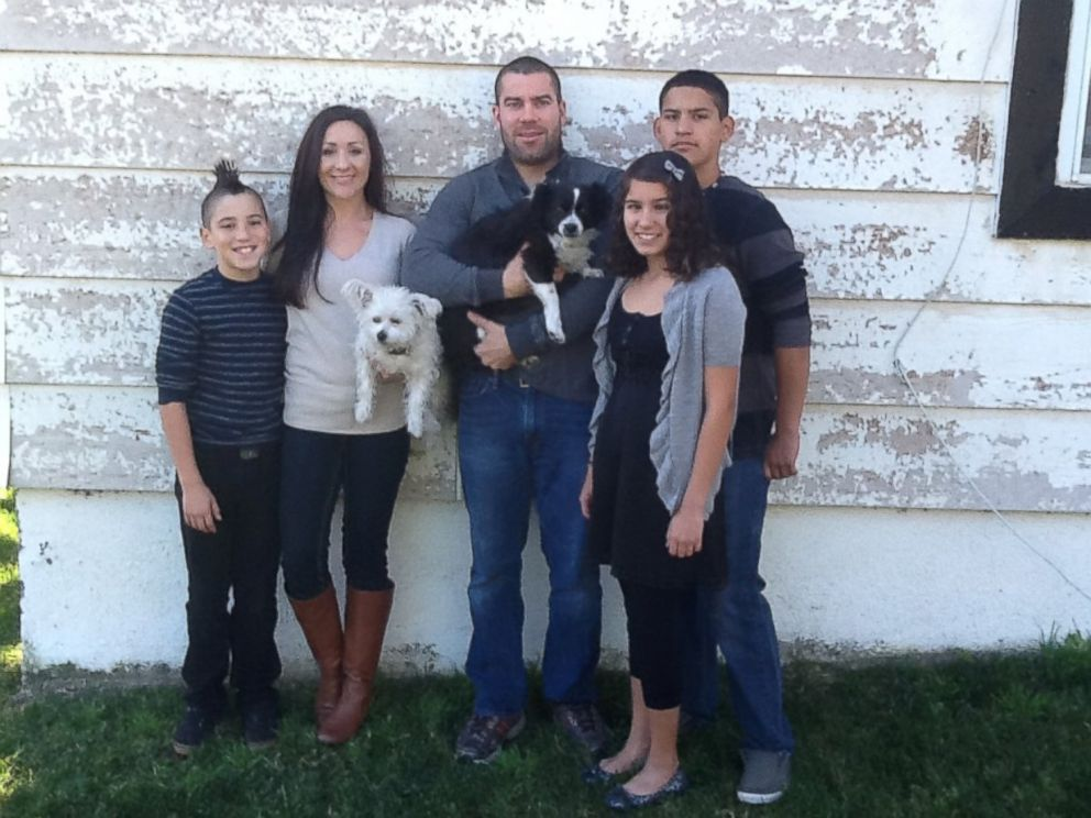 PHOTO: Tammy Gerber (second from left) with her husband and three children.