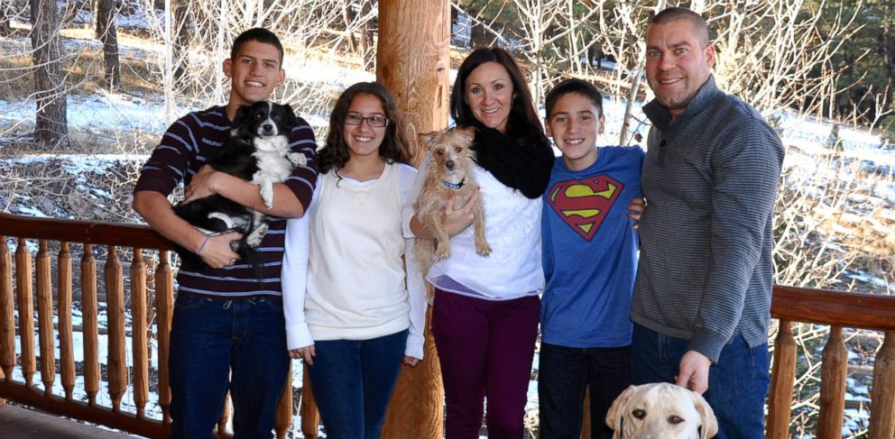PHOTO: Tammy Gerber (center) adopted her children Josh, 17, Kyla, 14 and Skyler, 13, after meeting them as a counselor at Camp To Belong.