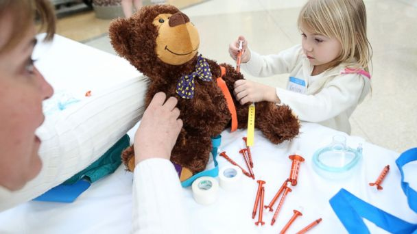 HT teddy bear clinic 4 jt 140322 16x9 608 Young Patients at Indiana Childrens Hospital Diagnose Stuffed Bears
