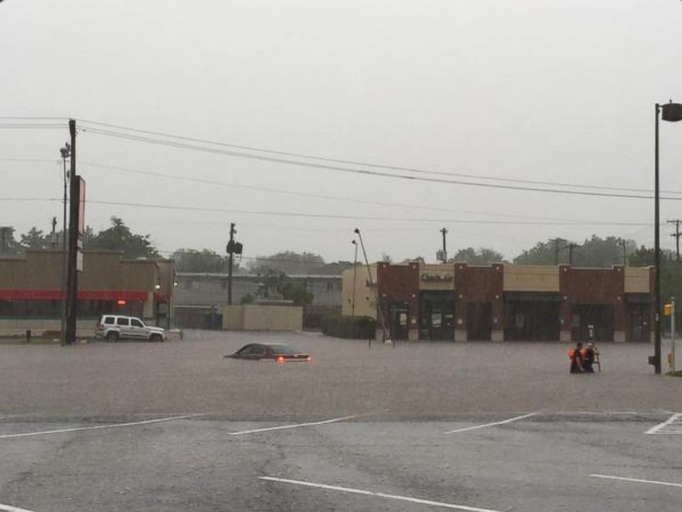 PHOTO: Nathanael Callon posted this photo on Twitter, May 23, 2015, with the caption, Flooding on 23rd in OKC.