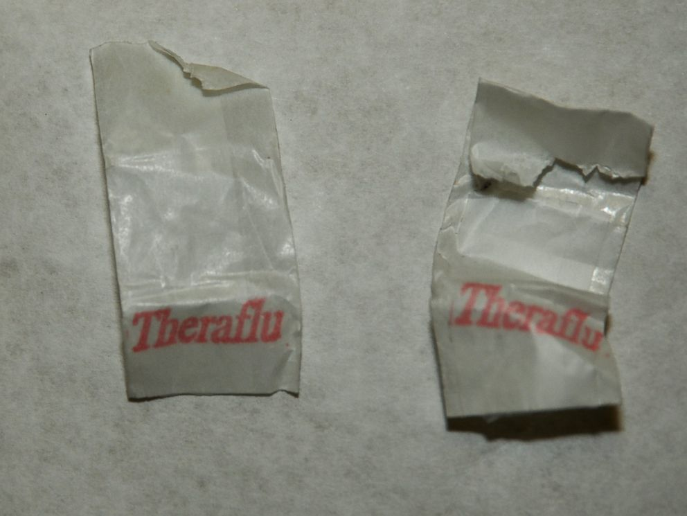 PHOTO: Bags with the label Theraflu were found to have traces of the drug fentanyl in them.
