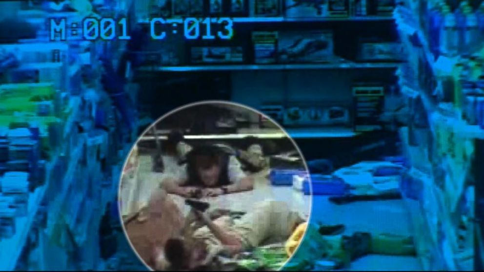 PHOTO: Surveillance video released by police, June 11, 2014, shows Jerad and Amanda Miller, the suspects in a Las Vegas shooting spree, taken inside a Walmart store, June 8, 2014.