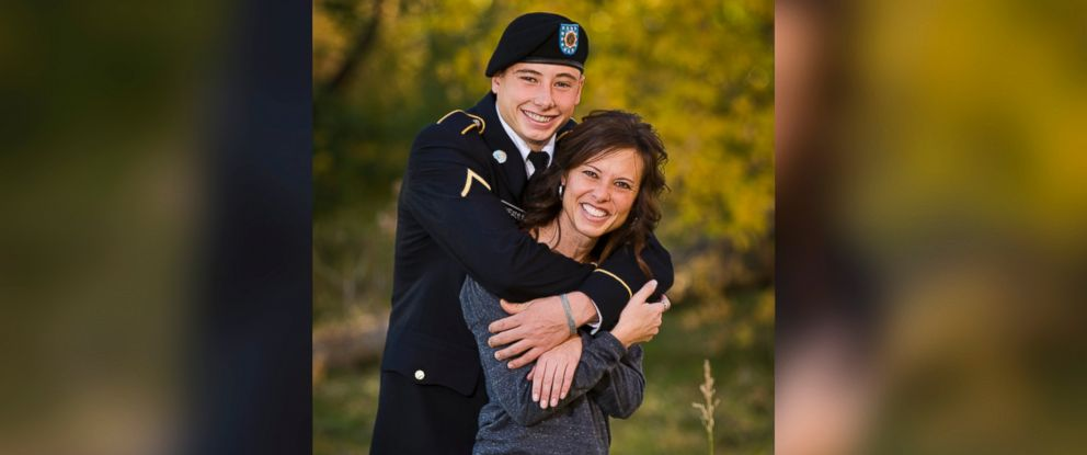 PHOTO: Carole Adler and her son, Taylor Thyfault, who was killed during cadet training in May by a driver evading police.