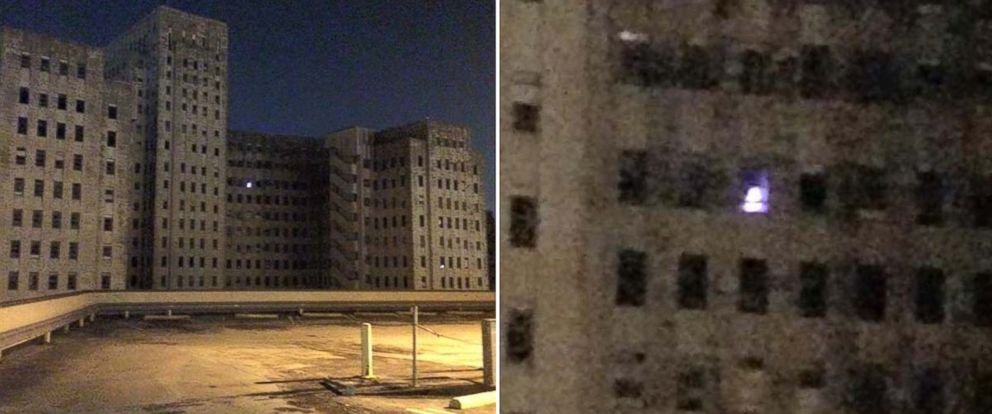 PHOTO: A mysterious light seen in the window of abandoned Charity Hospital in New Orleans has been baffling some employees across the street in Tulane Medical Center.