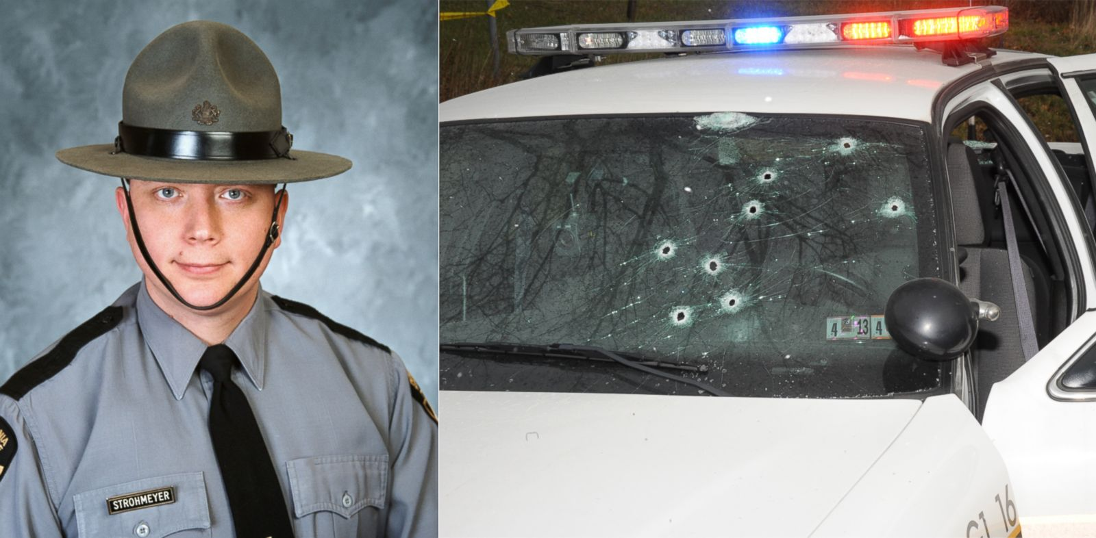 PHOTO: Pennsylvania State Trooper Timothy Strohmeyer was named Police Officer of the Year for his heroic actions in a gunbattle that left his car riddled with bullet holes.