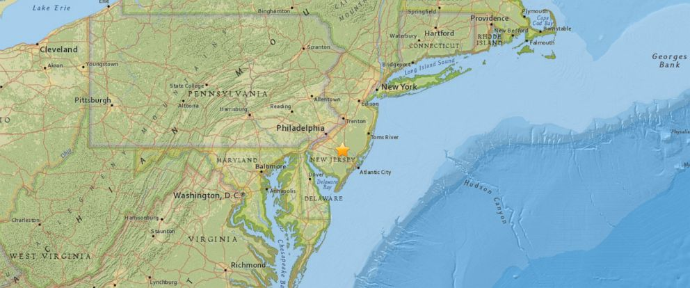 PHOTO: Parts of southern New Jersey were rocked by a sonic boom Thursday afternoon, according to the United States Geological Survey.