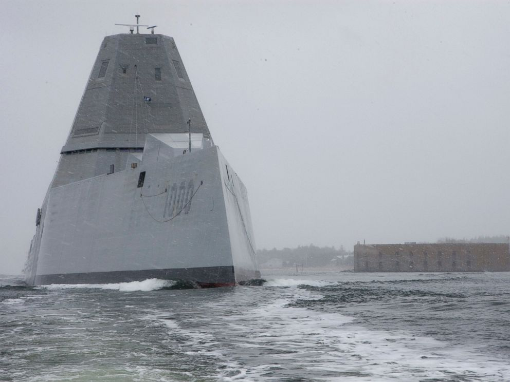 Navy To Take Charge Of Huge High Tech Destroyer Worth 4