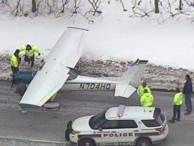 Small Plane Lands on NJ Highway