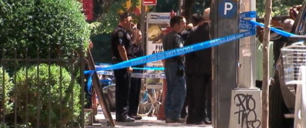 PHOTO: Three law enforcement officials were injured in a New York City shooting, July 28, 2014, authorities said.