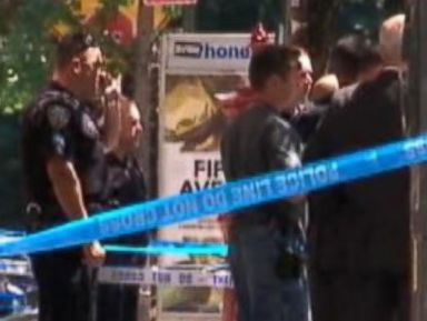 PHOTO: Three law enforcement officials were shot today in Manhattan, authorities said.