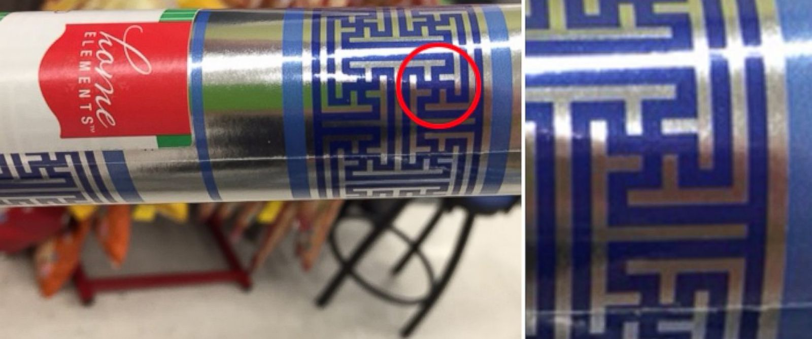 "PHOTO: Cheryl Shapiro, a former interior designer was shocked when she noticed the tiny swastikas. ""I didnt even have to take a second look. Those swastikas jumped out at me."""