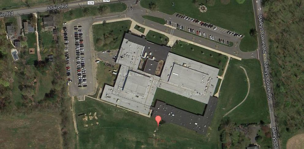 PHOTO: An aerial view of Wall Intermediate School in Wall Township, N.J.