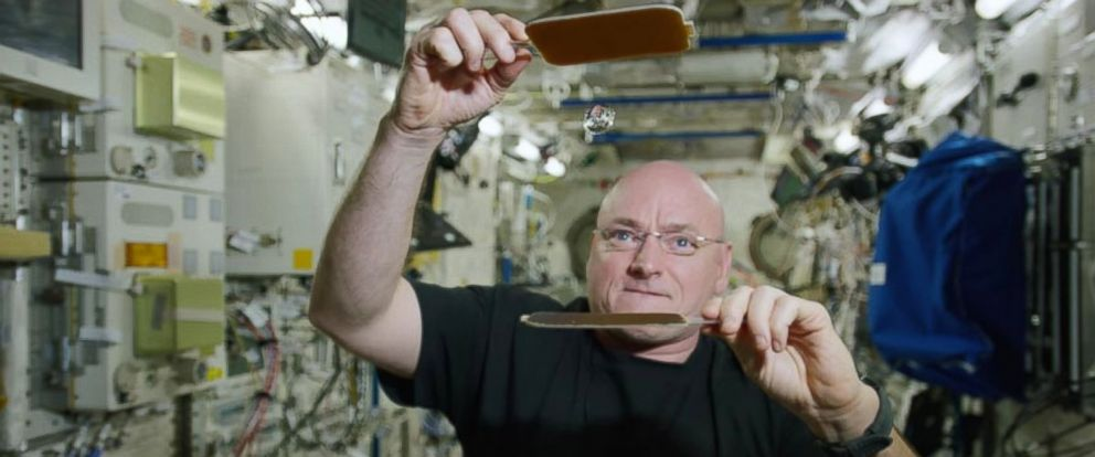 PHOTO: Astronaut Scott Kelly commemorated his 300th consecutive day in space on Jan. 21, 2016 with a fascinating demonstration of ping pong with a water ball.