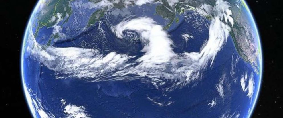 PHOTO: A satellite of a 6,000 mile long Atmospheric River in the Pacific Ocean.