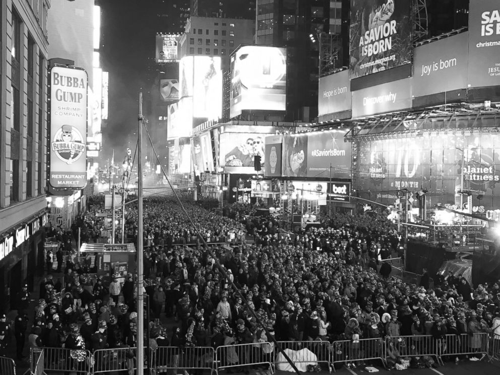 PHOTO: An estimated 1 million people attended the New Years Eve celebrations in New Yorks Times Square.