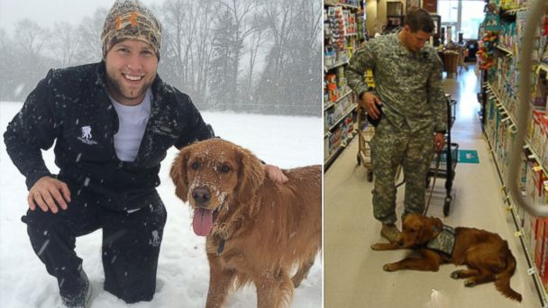 HT wounded soldier dogs jtm 140313 16x9 608 One Dogs Powerful Healing Effects on Two Wounded Veterans
