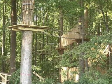 PHOTO: A woman died after falling from a zip line at a state park in Delaware.