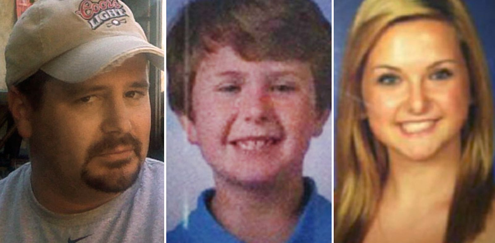 PHOTO: James Lee Dimaggio, left, Ethan Anderson and Hannah Anderson.