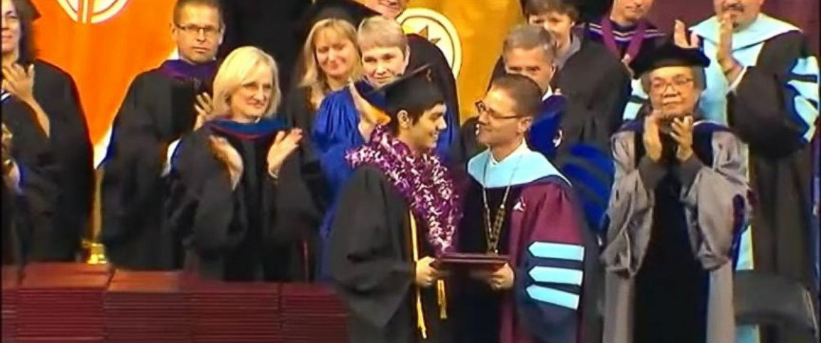 PHOTO: John Meis, a senior at SPU who heroically tackled and pepper-sprayed the gunman, graduated from SPU this weekend.
