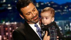 'PHOTO: Jimmy Kimmel with his son Billy on' from the web at 'http://a.abcnews.com/images/US/Kimel-Kaiser-funds-02-ap-jrl-171215_16x9t_240.jpg'