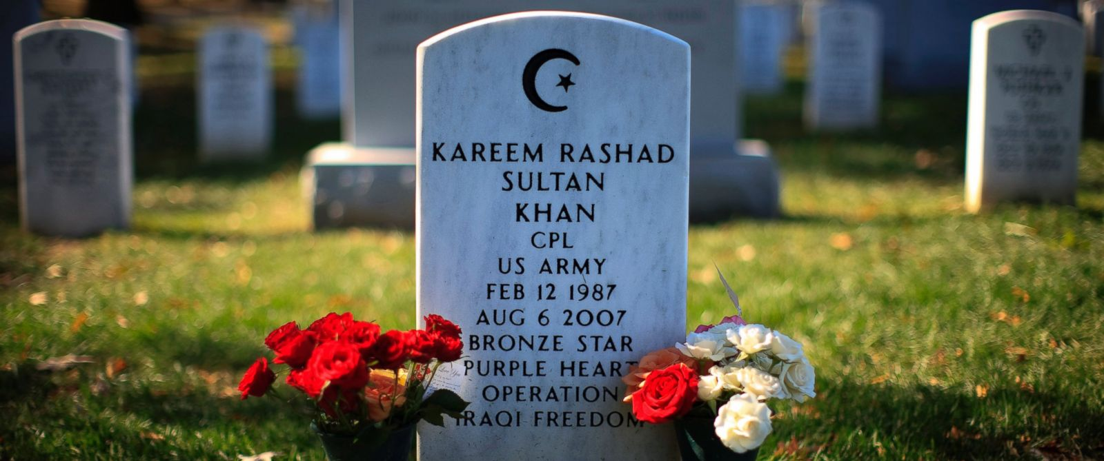 PHOTO: Kareem Rashad Sultan Khan was one of four Muslim soldiers killed in Iraq and Afghanistan and buried in Arlington National Cemetery in Arlington, Va.