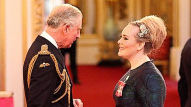 PHOTO: Adele Adkins is made an MBE for services to music by the Prince of Wales at Buckingham Palace in London, Dec. 19, 2013.
