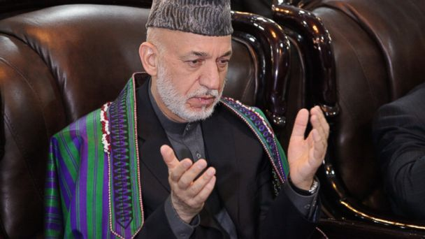PHOTO: Former Afghan President Hamid Karzai attends an event in Kabul, Afghanistan, on April, 15, 2017.