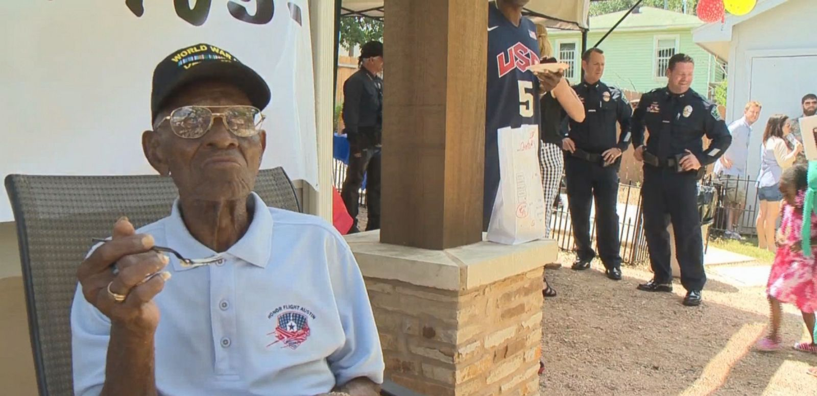 VIDEO: Richard Overton marked the upcoming occasion with a party in Austin, Texas, attended by extended family, the mayor and the assistant chief of police.